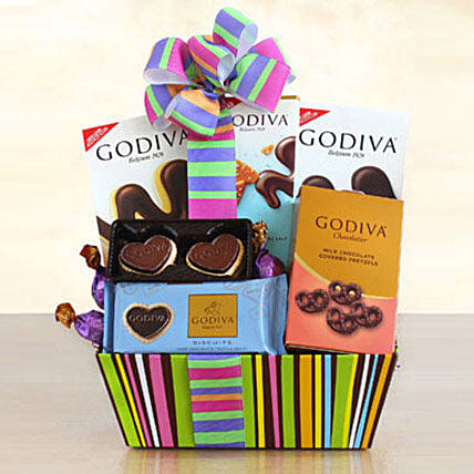 Godiva Galore Gift Basket: Mother's Day Basket Delivery in US