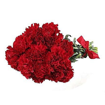 Red Carnations: Mothers Day Flowers in USA