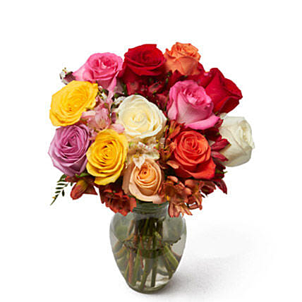 Roses And Alstros Bouquet: Send Mothers Day Flowers to USA