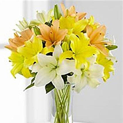 Simple Asiatic Lilies: Send Miss You Flowers to USA