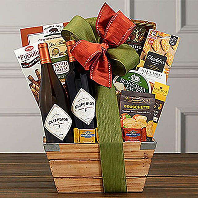 Cliffside Vineyards Wine Basket: Send Gifts to San Diego