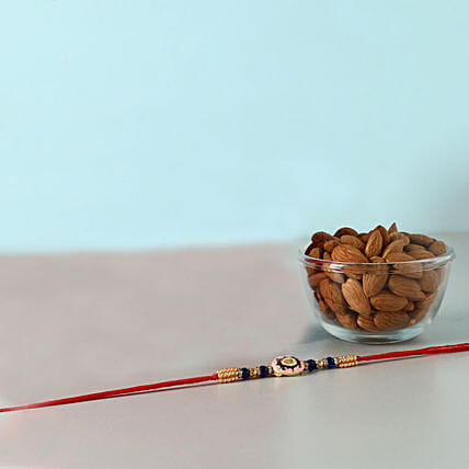 Attractive Designer Rakhi And Almonds Combo: