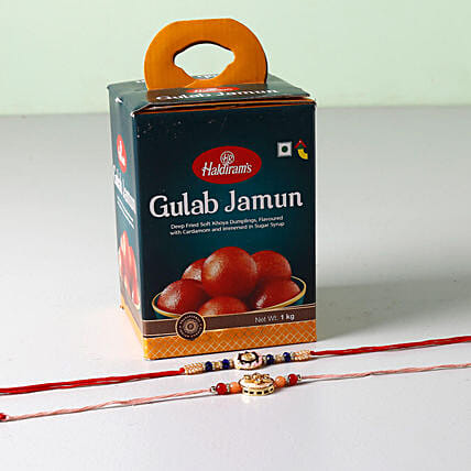 Embellished Beads Rakhis With Gulab Jamun: Rakhi to Cincinnati