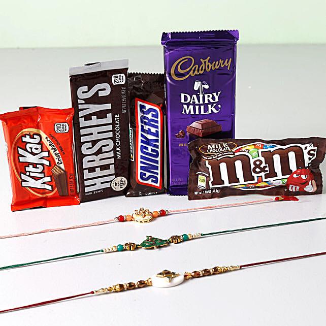 Ultra Chocolaty Rakhi Treat: Ethnic Rakhi to USA