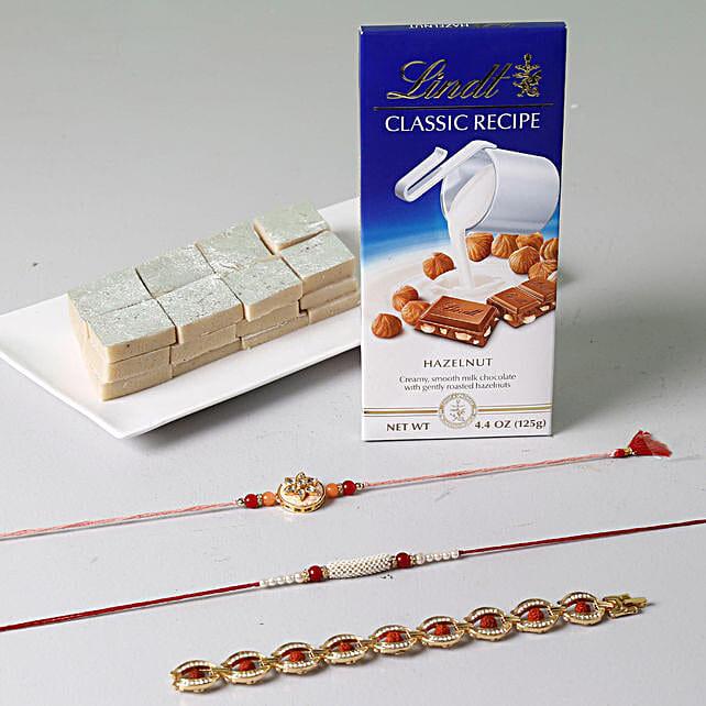 Unique Rakhi Celebration With Sweets And Lindt: Rakhi and Chocolates USA