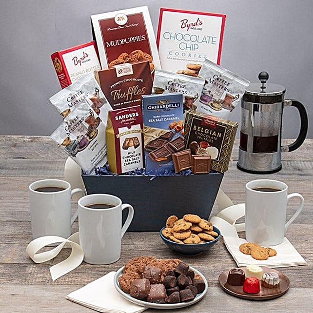 All Sweet Coffee Basket: Send Diwali Gifts to San Jose
