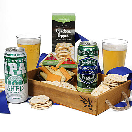 Beer And Snack Crate: