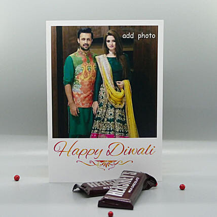Hersheys And Personalized Card For Diwali: Send Diwali Personalised Gifts to USA