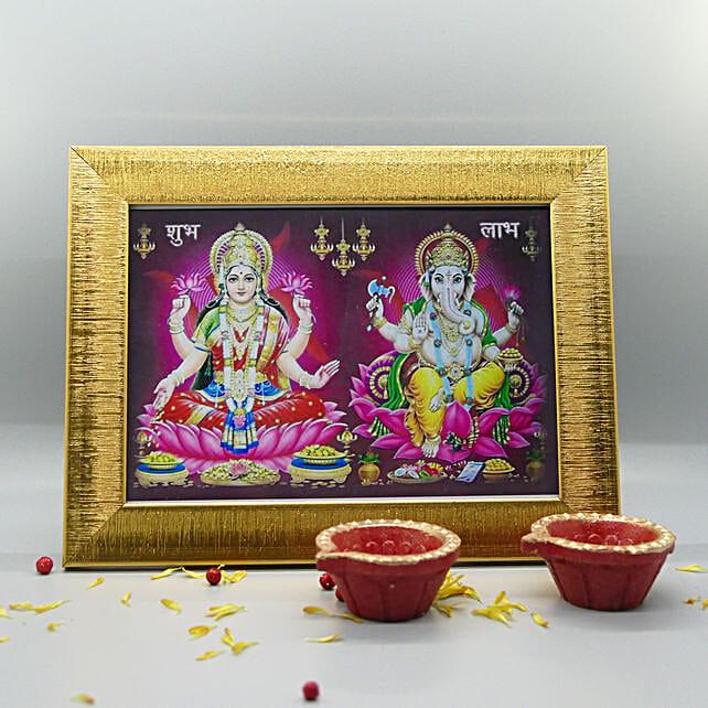 Divine Frame And Diyas For Diwali: Diwali Gifts to San Jose