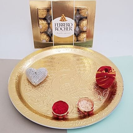 Ferrero Rocher For Bhai Dooj: Send Bhai Dooj Pooja Thali To USA