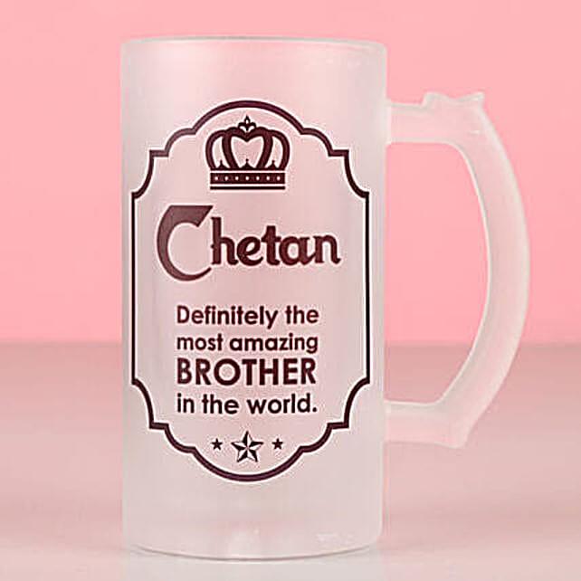 Amazing Brother Personalised Beer Mug: Send Bhai Dooj Personalised Gifts to USA