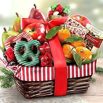 Fruity Winter Delight Basket: Send Thanks Giving Gifts to USA