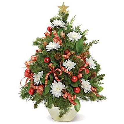 Decorated Mini Christmas Tree: Christmas Gift Delivery in USA