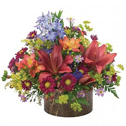 Radiant Flower Arrangement: Hanukkah Gifts In USA