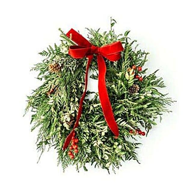 Traditional Christmas Wreath: Christmas Flowers to USA