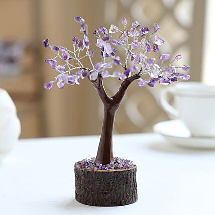 Amethyt Gemstone Wishing Tree: