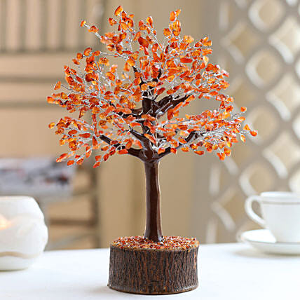 Carnelian Gemstone Wishing Tree: Send Kiss Day Gifts to USA