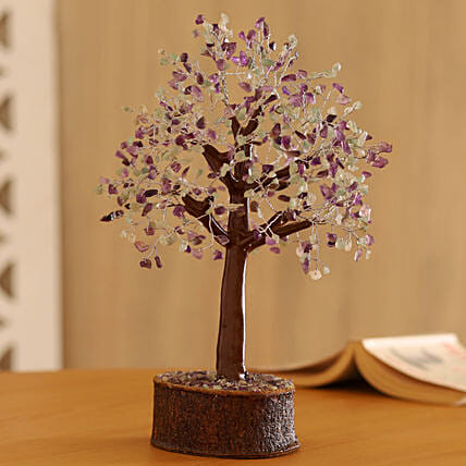 Flourite Look Gemstone Wishing Tree:
