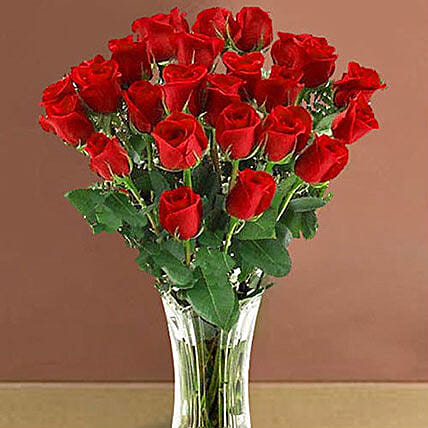 25 Long Stem Red Roses Bouquet: