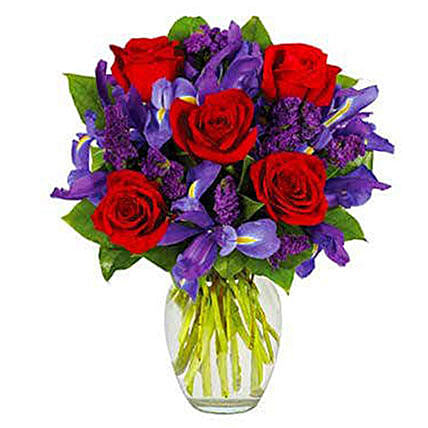 Adorable Ruby Rose Bouquet: Send Flowers to USA