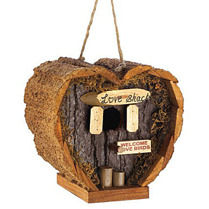 Heart Shaped Love Shack Birdhouse: Send Valentines Day Gifts to Dallas