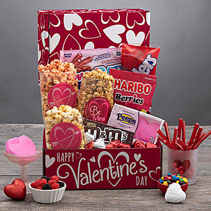 Gourmet Gift Hamper For Valentine: Send Valentines Day Gifts to California