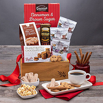 Valentines Day Coffee And Cookies: Valentines Day Gift Baskets in USA