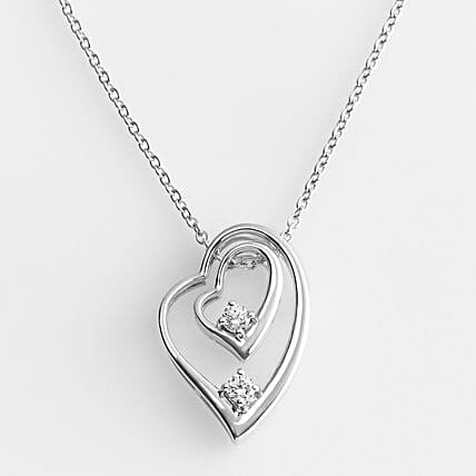 Personalised Double Heart Pendant: Valentine's Day Gifts for Her to USA