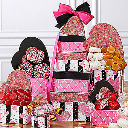 Tower of Hearts: Valentine's Day Gift Delivery in USA