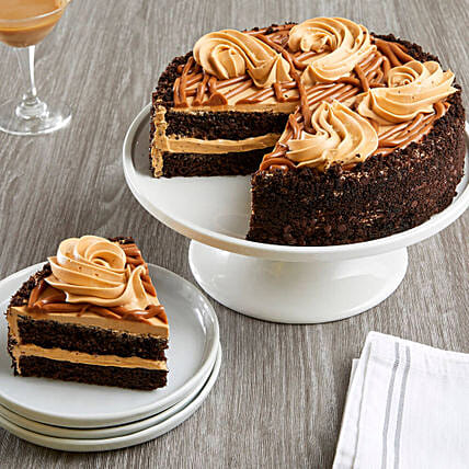 Salted Caramel Chocolate Cake: Cake Delivery in USA