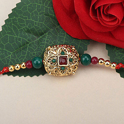 Traditional Antique Rakhi YUG: Rakhi Gifts to Yugoslavia