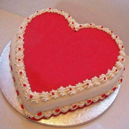 Heart-Shaped Wedding Cake