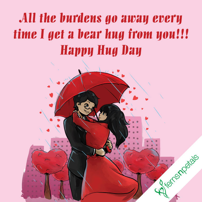 best hug day wishes