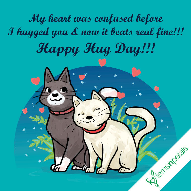 hug day wishes online