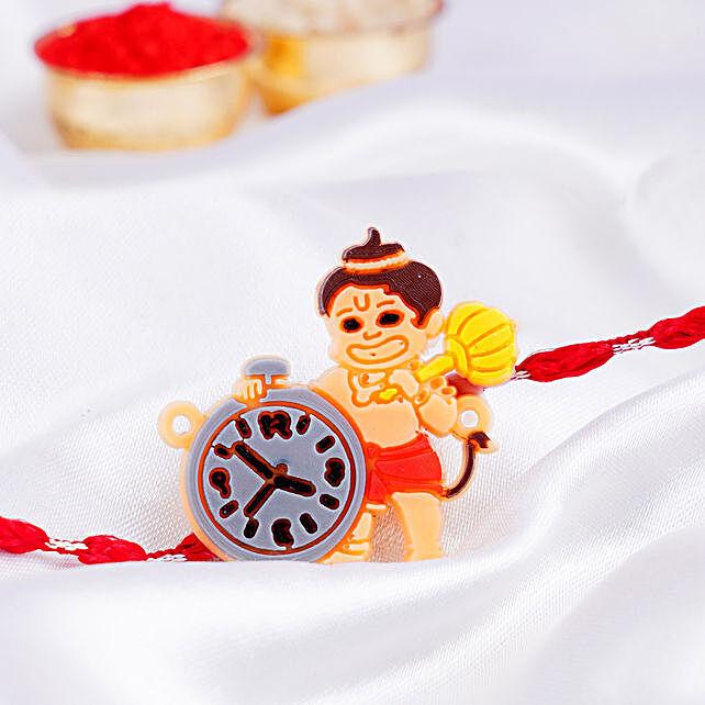 Bal Hanuman Clock Rakhi
