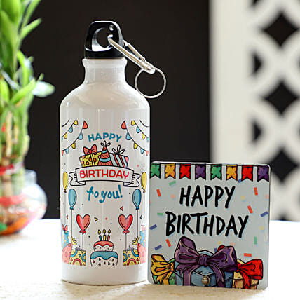 Online Birthday Bottle And Table Top Combo