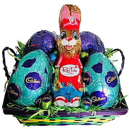 Chocolaty Eggs And Bunny Easter Hamper