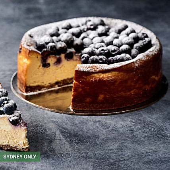 Delightful Blueberry Cheesecake:Valentine's Day Cake Delivery in Australia