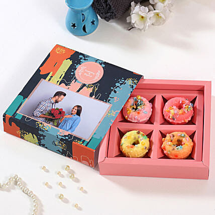 Online Personalised Rainbow Donuts Box