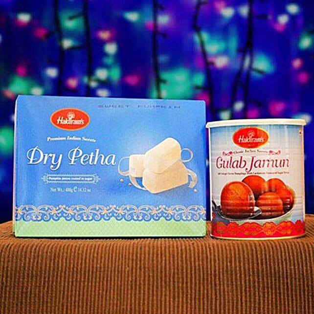 Dry Petha And Gulabjamun Tin