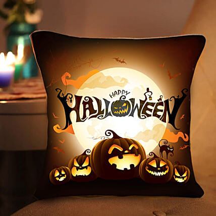 Evil Pumpkin LED Cushion