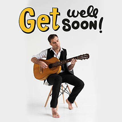 Get Well Soon Tunes:Guitarist On Video Call In Australia