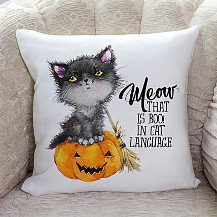 Halloween Meow Cushion