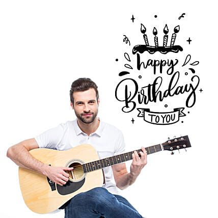 Happy Birthday Melodies:Guitarist On Video Call In Australia
