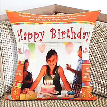 Happy Birthday Personalized Cushion