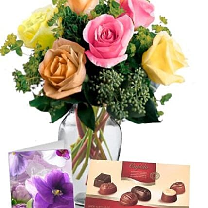 Mixed Roses Love Combo