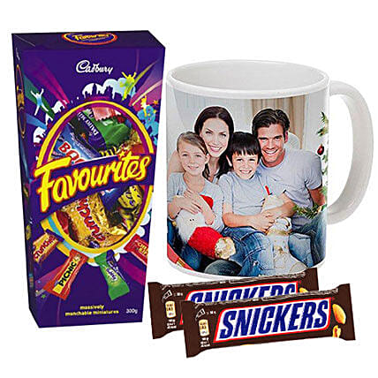 Personalised Mug With Chocolates Combo:Personalised Gifts to Australia