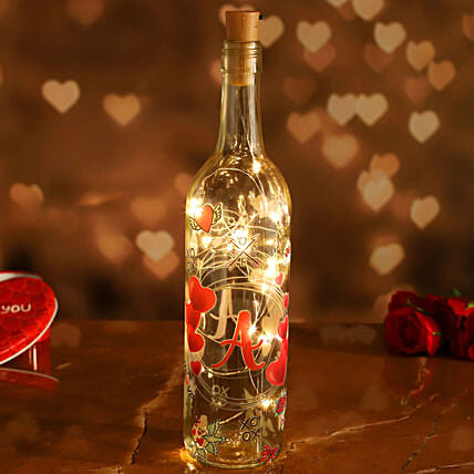 Personalised V'Day Special LED Bottle Lamp