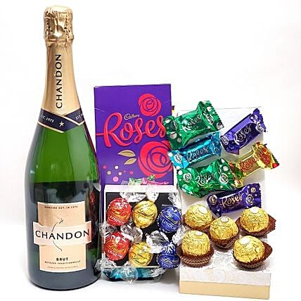 Premium Chandon Champagne And Assorted Truffles