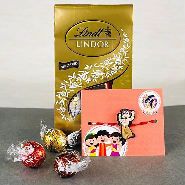 Pyar Ka Rista Rakhi With Lindt chocolates